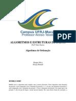 Algorítmos de Ordenação