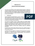 Practica 01 - Equipos de Proteccion Personal
