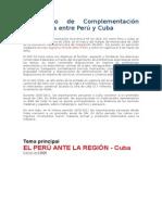 Acuerdo de Complementación Económica Entre Perú y Cuba