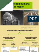 acrividad humana y medio ambiente