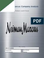 Neiman Marcus Company Analysis