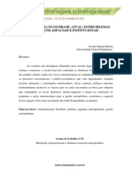 Metropolização Atual Do Brasil RIDES Lido