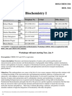 UT Dallas Syllabus for biol3161.004.07s taught by   (marsh)