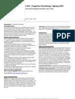 UT Dallas Syllabus for psy3361.001.07s taught by Daniel Krawczyk (dck061000)