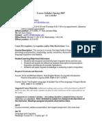 UT Dallas Syllabus for lit3330.001.07s taught by Thomas Lambert (tml017100)