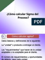 Como Calcular Sigma Del Proceso