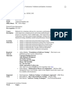 UT Dallas Syllabus for cs6367.001.07s taught by Joao Cangussu (jwc021000)