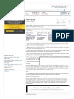 HDFC Bank - Economic Times