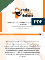 Makine Sanayii Sektör Platformu Toplantısı