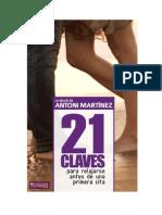 21 Claves Para Relajarse Antes de La Primera Cita - Ántoni Martínez