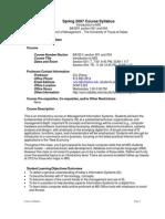 UT Dallas Syllabus for ba3351.004.07s taught by Zhiqiang Zheng (zxz062000)