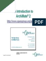 ArchiMate2 Intro