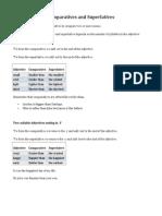 Comparatives and Superlatives Theory