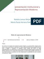 Modo de Representación Institucional y Modo de Representación