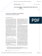 Internet para investigadores en humanidades. La búsqueda de artículos y libros en la Red | Leticia Pérez Puente - Academia.edu