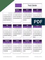 Yearly Calendar Landscape Chamfer