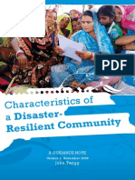 The Characteristics of a Disaster Resilient Community