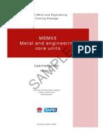MEM05 Metal and Engineering Core Units - Learner Guide