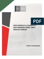 Aspectos Normativos en La Aplicacion de Los Nuevos Procedimientos Contables 2013-2014