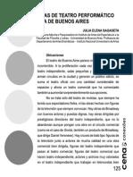 Sobre formas de teatro performático en la escena de Buenos Aires