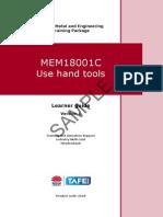 MEM18001C Use Hand Tools - Learner Guide
