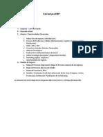 Estructura ERP