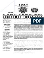VFW Post 1223 2014 4th Quarter Newsletter - Christmas Truce