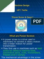 Power Screw & Gears