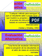 Forma Alternativas de Evaluacion