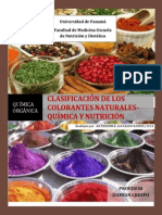 Clasificación de Los Colorantes _naturales