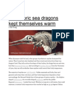 phenomena prehistoric sea dragons kept themselves warm
