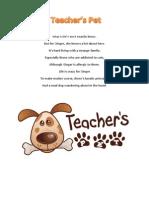 teachers pet blurbs
