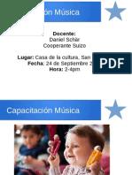 Capacitacion de Música Paras profesores de prescolar