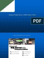 Setup of SQL Server 2000 Client Tools