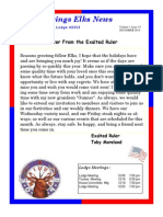 Sand Springs Elks December 2014 Newsletter