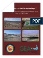 Values of Geothermal Energy
