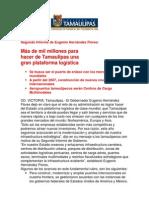 com0983 021206 Más de mil millones para hacer de Tamaulipas una gran plataforma logística