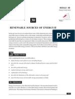30B_Renewable Sources of Energy - II