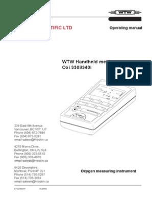 WTW - Oxi 330i-340i pdf | Salinity | Power Supply
