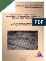 Fabricacion bloques de cemento