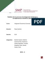 Análisis de Los Procesos de Integración de Europa y Su Implicancia en América Latina