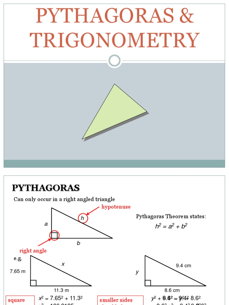 Pythagoras & Trigonometry | Trigonometric Functions | Trigonometry