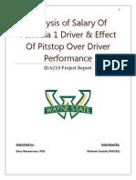 Analysis of Salary of Formula 1 Driver and Pitstop Analysis