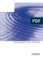 Ethoxylated Fatty Alcohols Marketing Flier