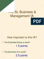Business Management IB Internal Assessment IA SL
