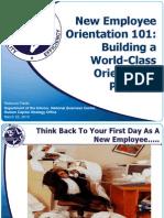 New Employee Orientation 101- the basic skill