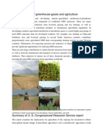 Global Overview of Greenhouse Gases and Agriculture