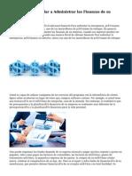 Consejos Para ayudar a Administrar las Finanzas de su Empresa Mejor