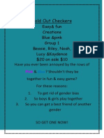 fold out checkers