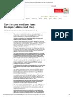 Govt Issues Medium Term Transportation Road Map _ the Jakarta Post